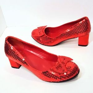 Ellie Ruby Slippers, Wizard of Oz size 7 Red Heels